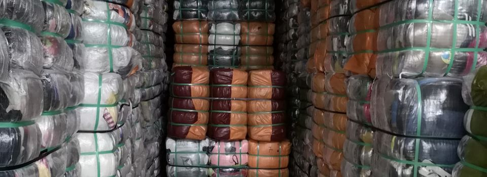 Second-hand clothing bales exported around the world